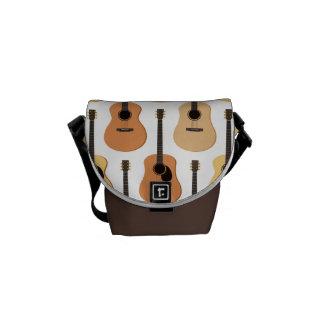 Acoustic Guitars Pattern Courier Bag