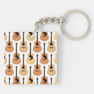 Acoustic Guitars Pattern Keychain