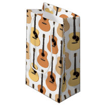 Acoustic Guitars Pattern Small Gift Bag
