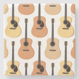 Acoustic Guitars Pattern Stone Coaster