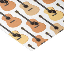 Acoustic Guitars Pattern Tissue Paper
