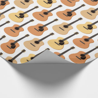 Acoustic Guitars Pattern Wrapping Paper