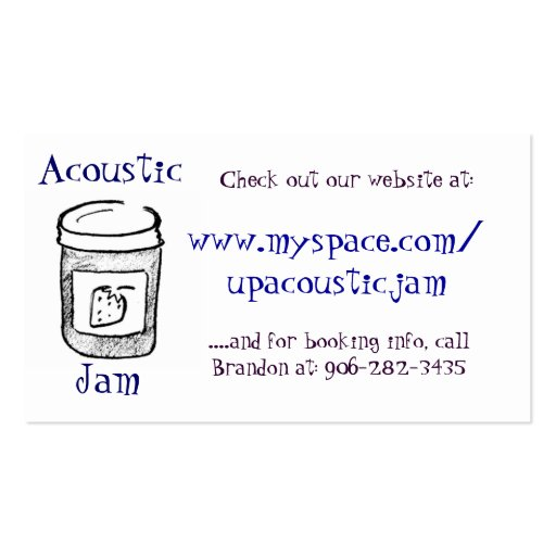 Acoustic Jam Buisness Cards Double-Sided Standard Business Cards (Pack Of 100)