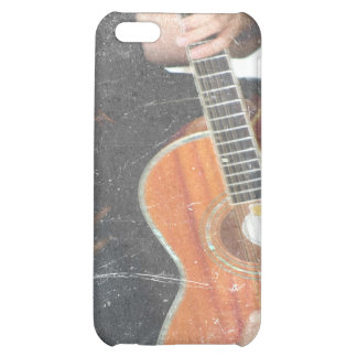 acoustic male guitar player grunge black shirt iPhone 5C cases