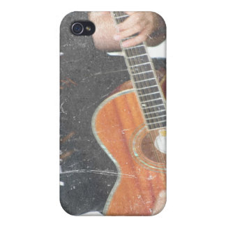 acoustic male guitar player grunge black shirt cases for iPhone 4