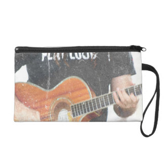 acoustic male guitar player grunge black shirt wristlet purse
