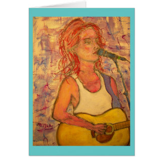 acoustic music soothes the soul greeting card