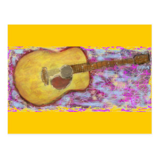 acoustic music soothes the soul postcard