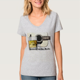"""Acoustic on the Rocks""-50 Shades of Rock T-Shirt"