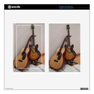 Acoustic or Electric Kindle Fire Skin