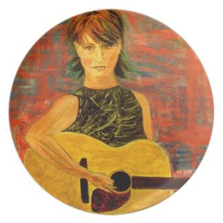 Acoustic Rock Dinner Plate
