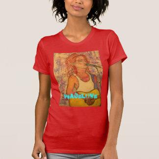 acoustic rock girl PeaceLove art T-Shirt