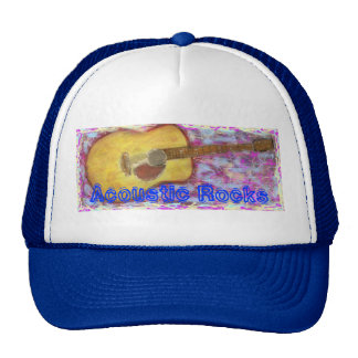 Acoustic Rocks Guitar Trucker Hats