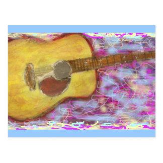 Acoustic Rocks Guitar Postcard