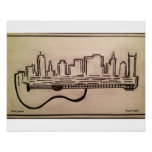 """""""Acoustic Skyline"""" Poster(16.50"""" x 11.00"""") Poster"""