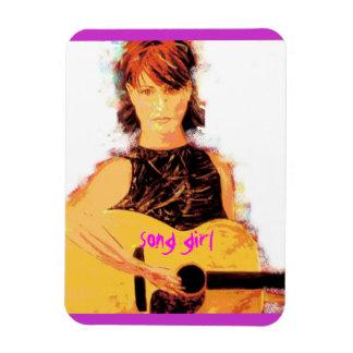acoustic song girl art magnet