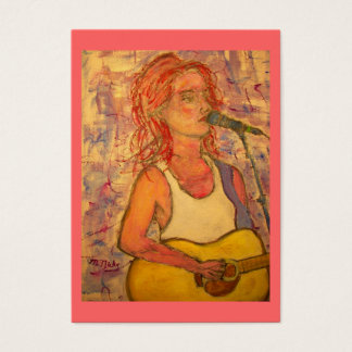 acoustic songstress business card