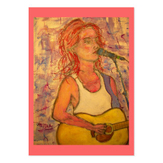acoustic songstress large business card