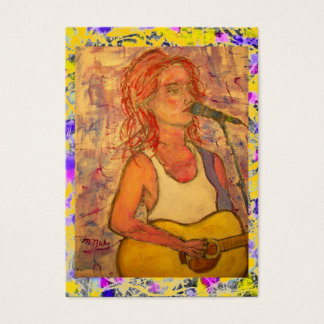 acoustic songstress splatter and drip business card