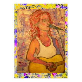 acoustic songstress splatter and drip large business card