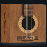 """Acoustic Steel String Guitar Music Binder<br><div class=""""desc"""">Acoustic Guitar Personalized Music Binder. A natural wood steel string guitar on black. Keep your sheet music,  lyrics or song charts in an appropriate music themed fashion. Give your binder a title and customize as desired. A great gift for your favorite guitar player,  musician or music lover.          #music  #guitar</div>"""