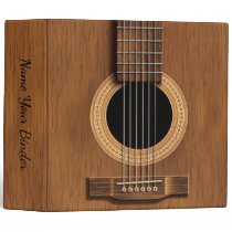 Acoustic Steel String Guitar Music Binder