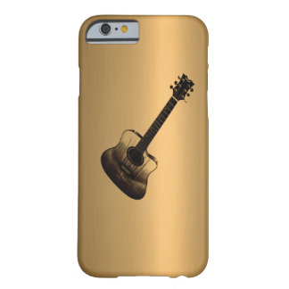 Acoustic-Style Guitar Bronze Copper Effect Barely There iPhone 6 Case