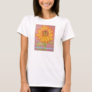 Acoustic Sunflower groovy acoustic T-Shirt