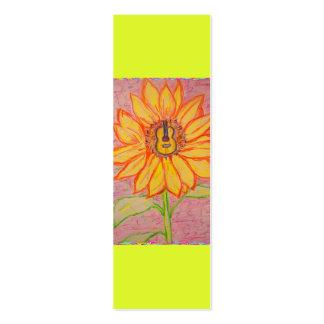 Acoustic Sunflower Mini Business Card