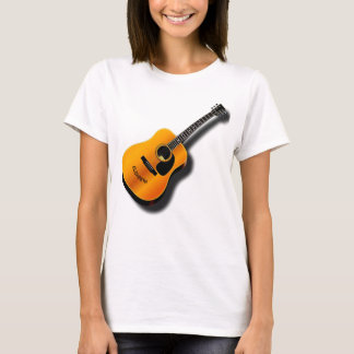 Acoustic Vintage Guitar With Musician Custom Name T-Shirt