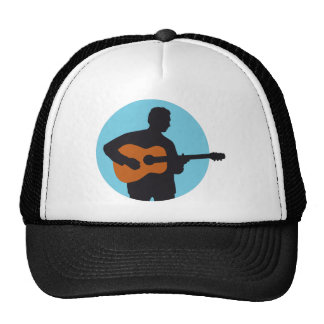 acoustic western guitar more player trucker hat