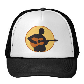 acoustic western guitar more player trucker hats
