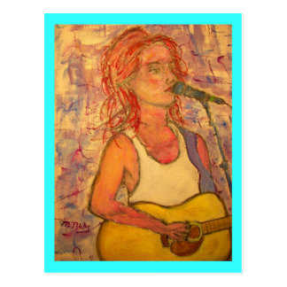 Acoustic Zen Girl Postcard