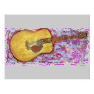 Acoustic Zen Guitar Postcard