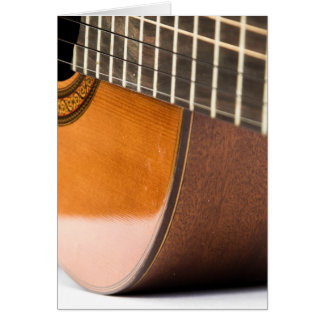 Acoustical Guitar Greeting Card