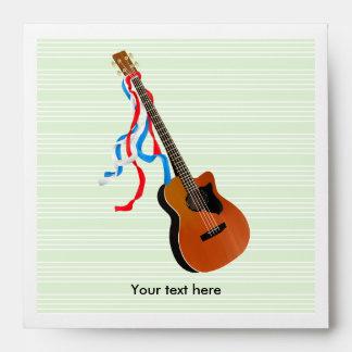 Acoutic Bass Guitar Music Pattern Envelope