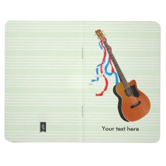 Acoutic Bass Guitar Music Pattern Journal