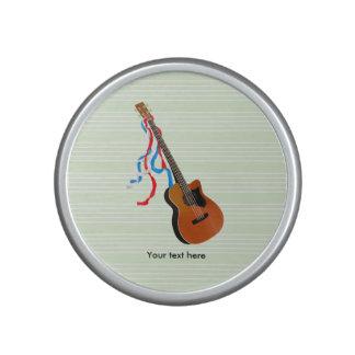 Acoutic Bass Guitar Patriotic ribbons Speaker
