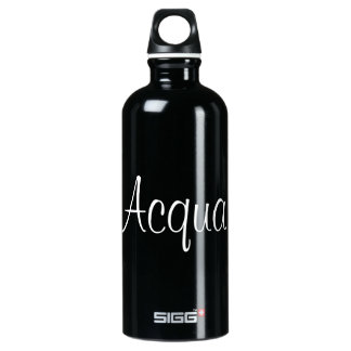 """Acqua"" in Italian Translation for water Aluminum Water Bottle"