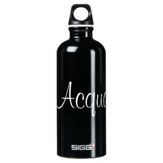 """Acqua"" in ItalianTranslation for water Aluminum Water Bottle"