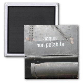 Acqua Non Potabile - Don't drink 2 Inch Square Magnet