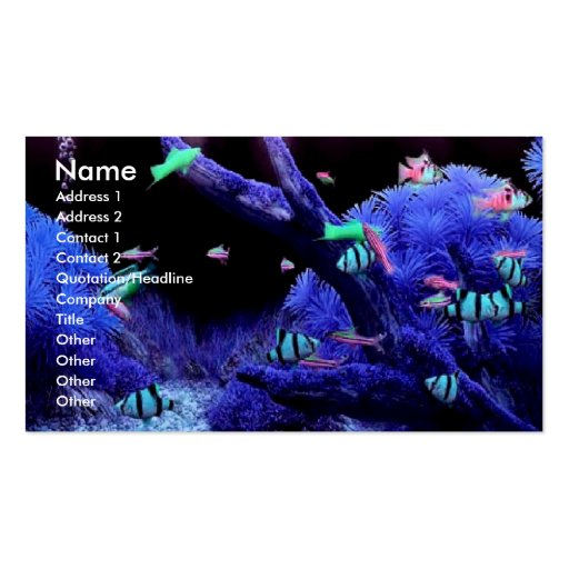 Acquarium Profile Card Double-Sided Standard Business Cards (Pack Of 100)