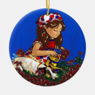 Acquarius Double-Sided Ceramic Round Christmas Ornament