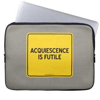 ACQUIESCENCE IS FUTILE COMPUTER SLEEVE