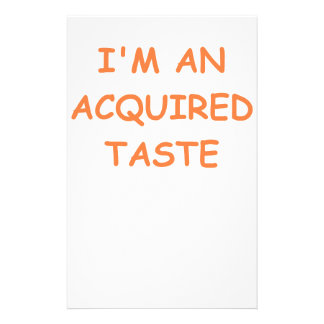 acquired taste customized stationery