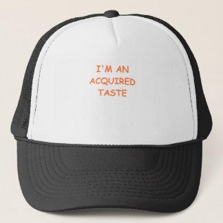acquired taste trucker hat