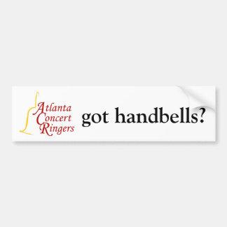 ACR logo, got handbells? Bumper Sticker