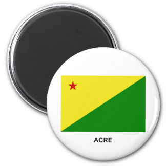 Acre, bandera del Brasil Imán Redondo 5 Cm