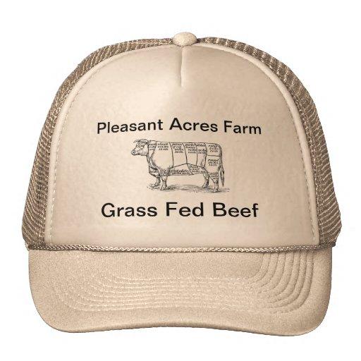 Acres agradables de carne de vaca gorra