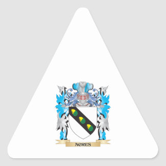 Acres Coat Of Arms Triangle Stickers